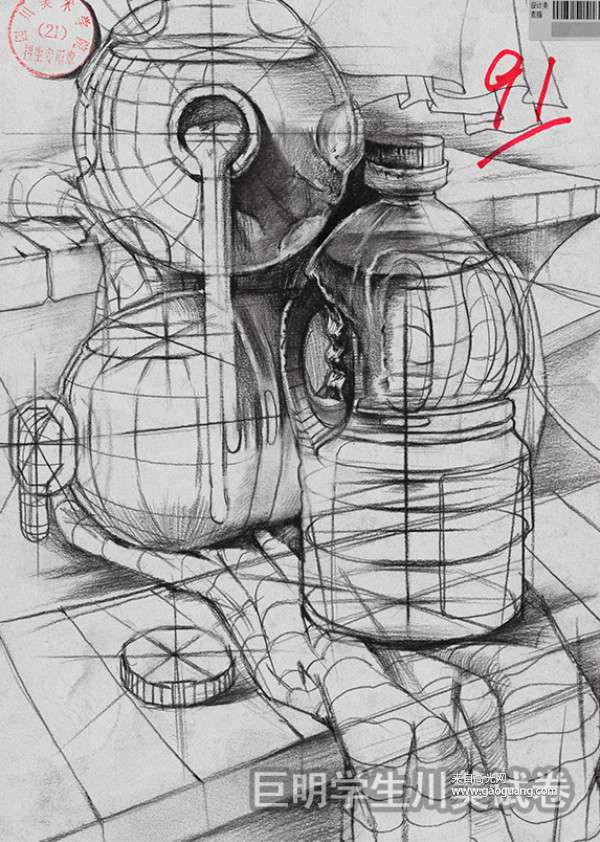 四川美术学院素描高分卷欣赏,川美素描高分卷作品集