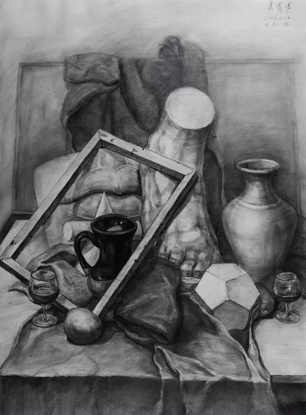 吉林艺术学院素描留校作品