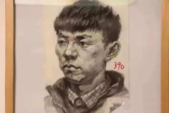 天津美术学院真题高分卷(素描头像)